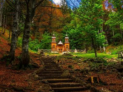 Photograph - Chapel In The Woods - Russia by Melanie Erhard