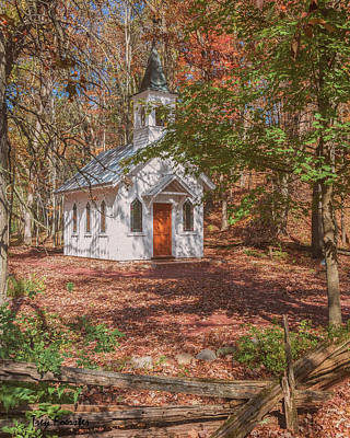 Photograph - Chapel In Woods At Red Mill 3 by Trey Foerster