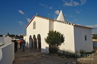 Architectural Photograph - Chapel Nossa Senhora Da Rocha And Tourists In Algarve by Angelo DeVal