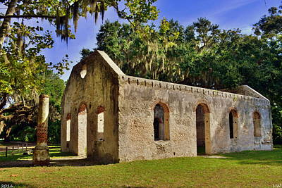 Photograph - Chapel Of Ease St. Helena Island Beaufort Sc 3 by Lisa Wooten