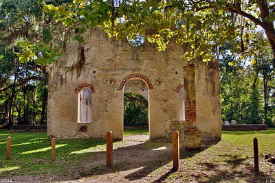 Photograph - Chapel Of Ease St. Helena Island Beaufort Sc 4 by Lisa Wooten