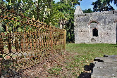 Photograph - Chapel Of Ease St. Helena Island Beaufort Sc by Lisa Wooten