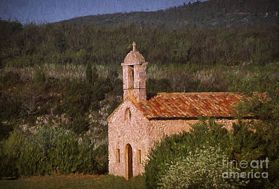 Painterly Photograph - Chapel Of Love by Robert Brown