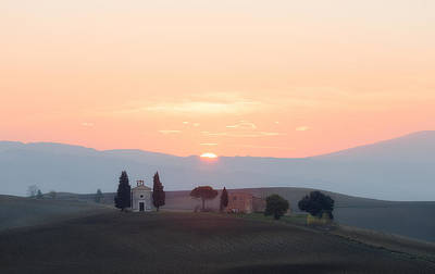 Photograph - Chapel Of Madonna Di Vitaleta At Sunrise by Nickolay Khoroshkov