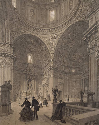 House Of Worship Painting - Chapel Of St Ignatius Of Loyola by Felix Benoist
