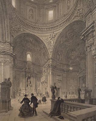 Jesus Drawing - Chapel Of St Ignatius Of Loyola by Felix Benoist