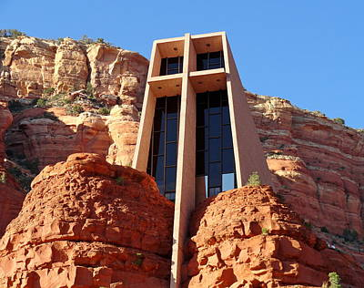 Photograph - Chapel Of The Holy Cross 1 by Robert Meyers-Lussier