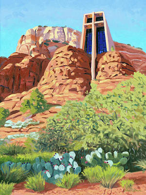 Painting - Chapel Of The Holy Cross by Steve Simon