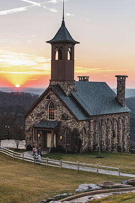 Photograph - Chapel Of The Ozarks Sunset At Top Of The Rock by Gregory Ballos