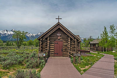Photograph - Chapel Of The Transfiguration Episcopal In Grand Teton National Park by Willie Harper