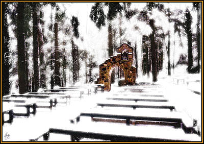 Chapel Of The Woods In A Snowy Glow Original