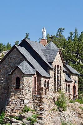 Saint Catherine Of Siena Chapel Photograph - Chapel On A Rock 2 by John Franke