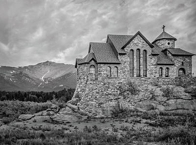 Photograph - Chapel On The Rock - Black And White by James Woody