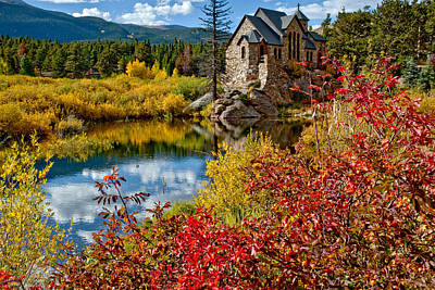Nederland Colorado Photograph - Chapel On The Rock Fall by Jennifer Grover