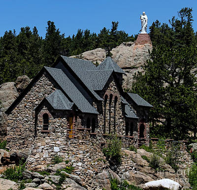 Saint Catherine Of Siena Chapel Photograph - Chapel On The Rock In Allenspark Colorado by David Oppenheimer