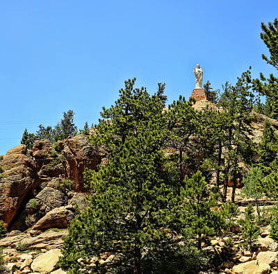 Saint Catherine Of Siena Chapel Photograph - Chapel On The Rocks - Colorado by Judy Vincent