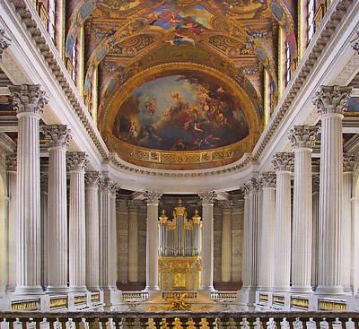 Chapel - Palace Of Versailles - France Art Print by Nikolyn McDonald
