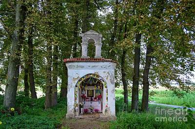 Photograph - Wayside Marian Shrine Grabowo Village Poland by Elzbieta Fazel