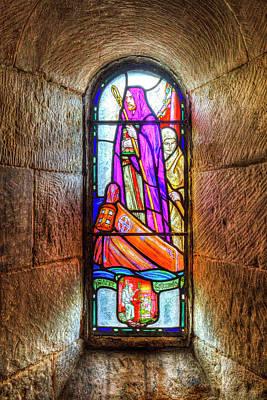 Chapel Stained Glass Window Art Print by David Pyatt