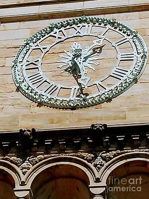 Photograph - Chapel Street Clock by Marlene Williams