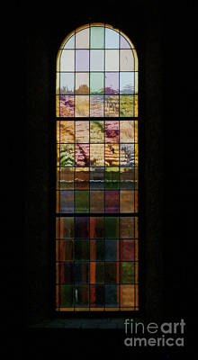 Stainglass Photograph - Chapel Window by Georgia Sheron