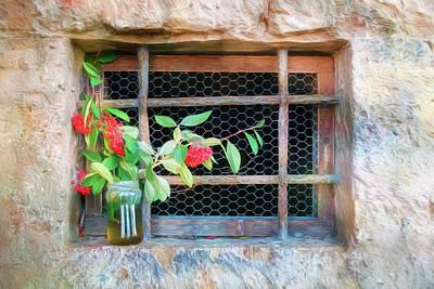 Photograph - Chapel Window Orvieto Italy by Joan Carroll