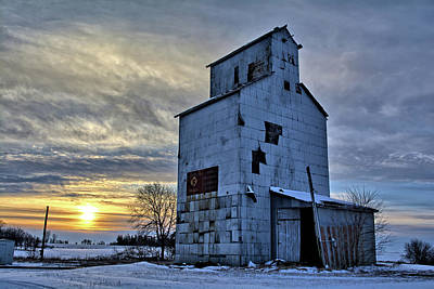 Photograph - Chapin Co-op Winter by Bonfire Photography