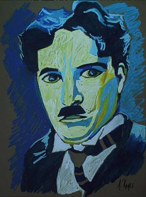Painting - Chaplin by Angel Reyes