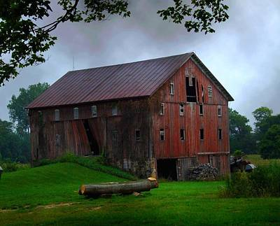 Chapman Lake Barn Art Print