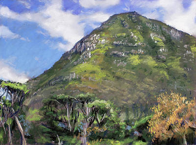 Painting - Chapman's Peak From Noordhoek Commons by Christopher Reid
