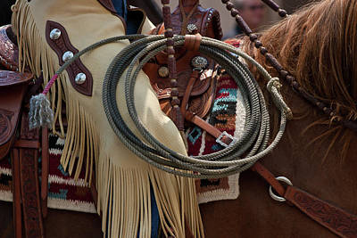 Photograph - Chaps And Rope by Roger Mullenhour