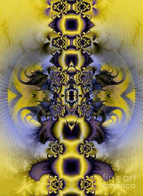 Digital Digital Art - Chapter 3 / Yellow Blue  by Elizabeth McTaggart