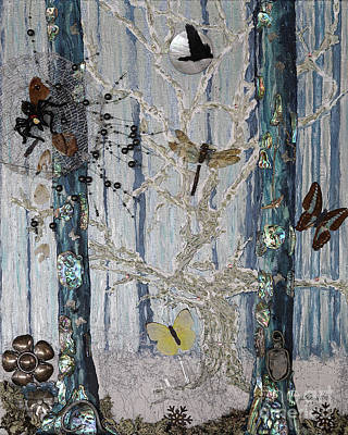 Mixed Media - Chapter Green Is Collage Sold by Stanza Widen