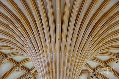 Photograph - Chapter House Ceiling, Wells Cathedral. by Colin Rayner