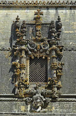 Photograph - Chapter House Window In The Convent Of Christ. Tomar, Portugal by Angelo DeVal