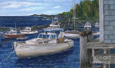 Perkins Cove Painting - Characteristically Coastal by Wendy Alibozek