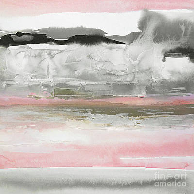 Wall Art - Painting - Charcoal And Blush 1 by Chris Paschke
