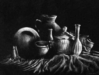 Drawing - Charcoal And Eraser by Shana Rowe Jackson