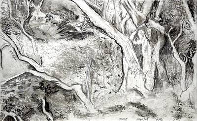 Charcoal Copse Art Print