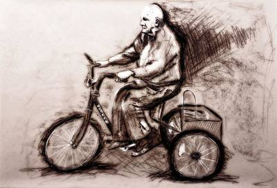 Charcoal Drawing Of Pedal To The Metal By Ayasha Loya Original by Ayasha Loya