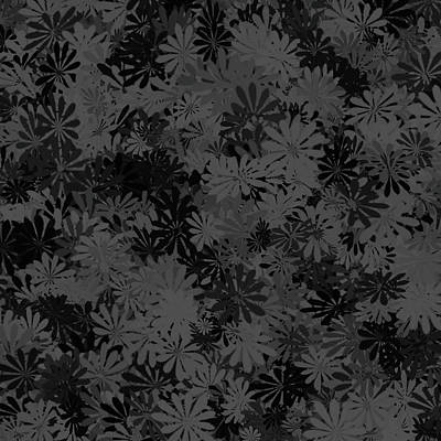 Digital Art - Charcoal Floral Pattern by Aimee L Maher Photography and Art Visit ALMGallerydotcom