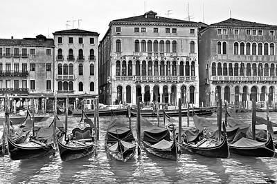 Photograph - Charcoal Gondolas by Frozen in Time Fine Art Photography