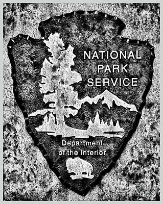 Photograph - Charcoal National Park Service Logo by John Stephens