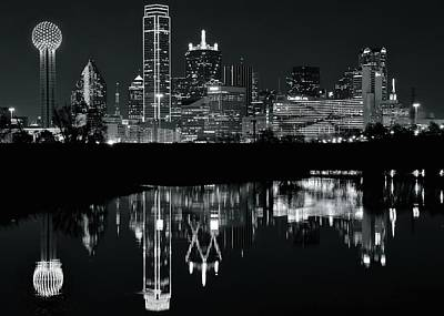 Photograph - Charcoal Night In Dallas by Frozen in Time Fine Art Photography