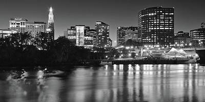 Photograph - Charcoal Night In Hartford by Frozen in Time Fine Art Photography