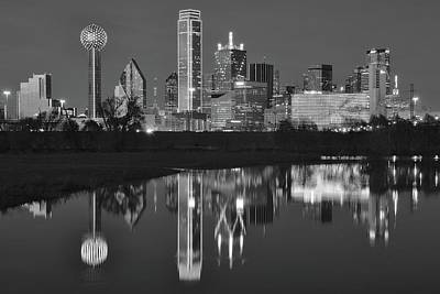 Photograph - Charcoal Night In The Lone Star State by Frozen in Time Fine Art Photography