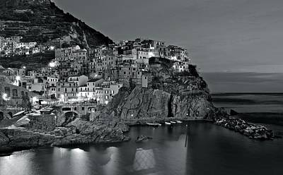 Photograph - Charcoal Nights In The Cinque Terre by Frozen in Time Fine Art Photography