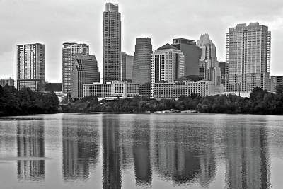 Photograph - Charcoal Of Austin by Frozen in Time Fine Art Photography