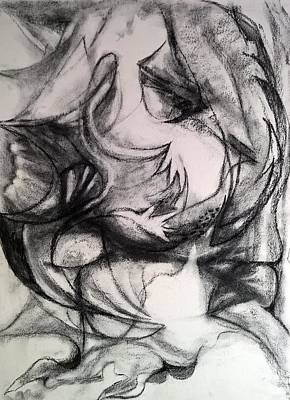 Drawing - Charcoal Study by Nicolas Bouteneff