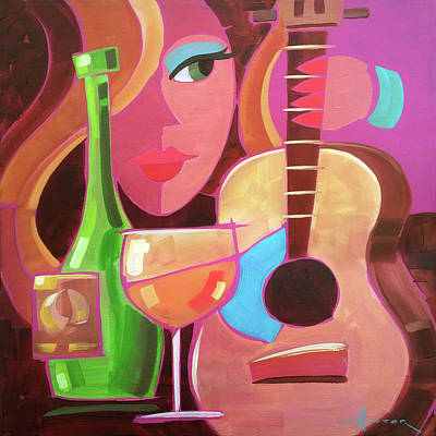 Painting - Chardonay by Larry Hunter